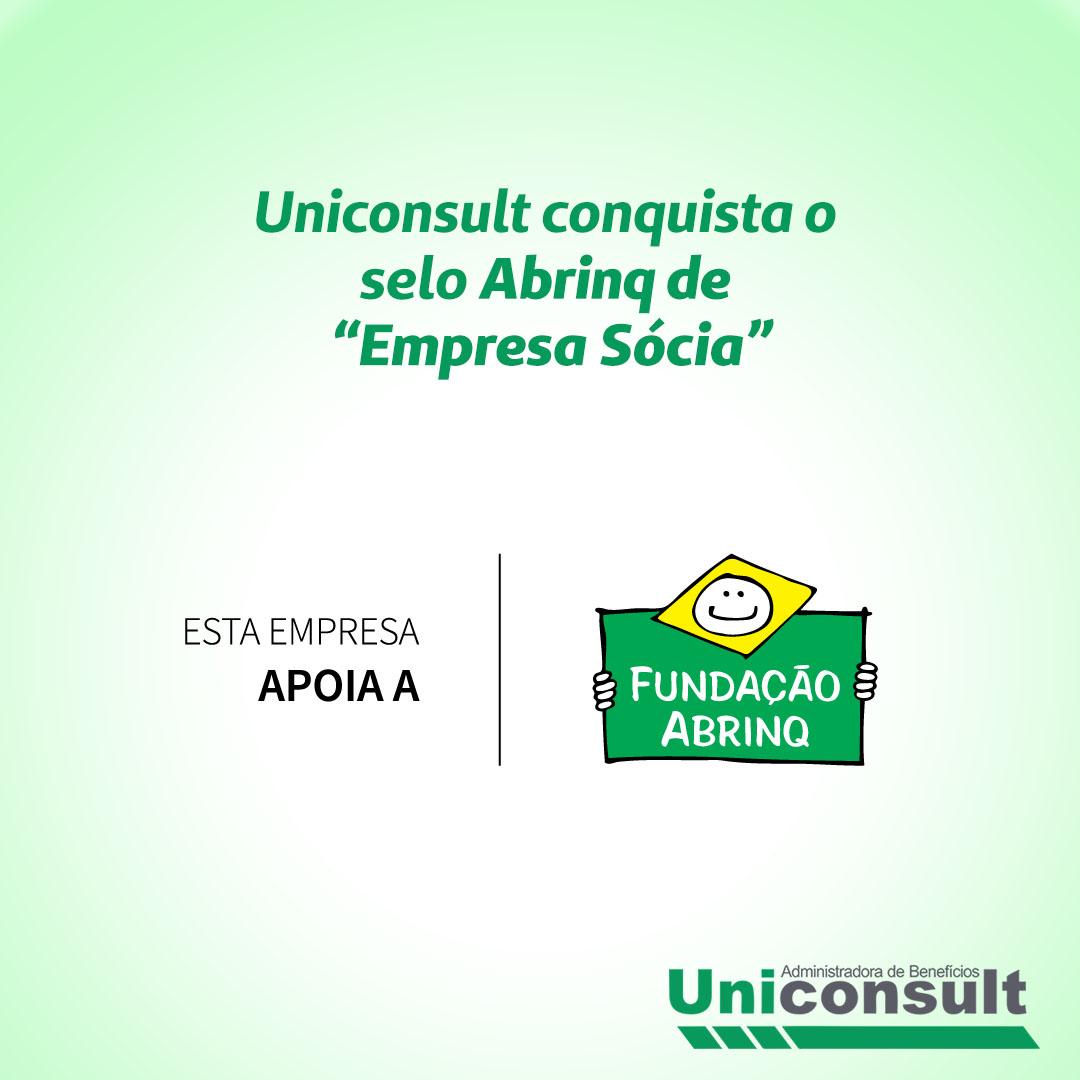 Selo da Fundação Abrinq de Empresa Sócia!