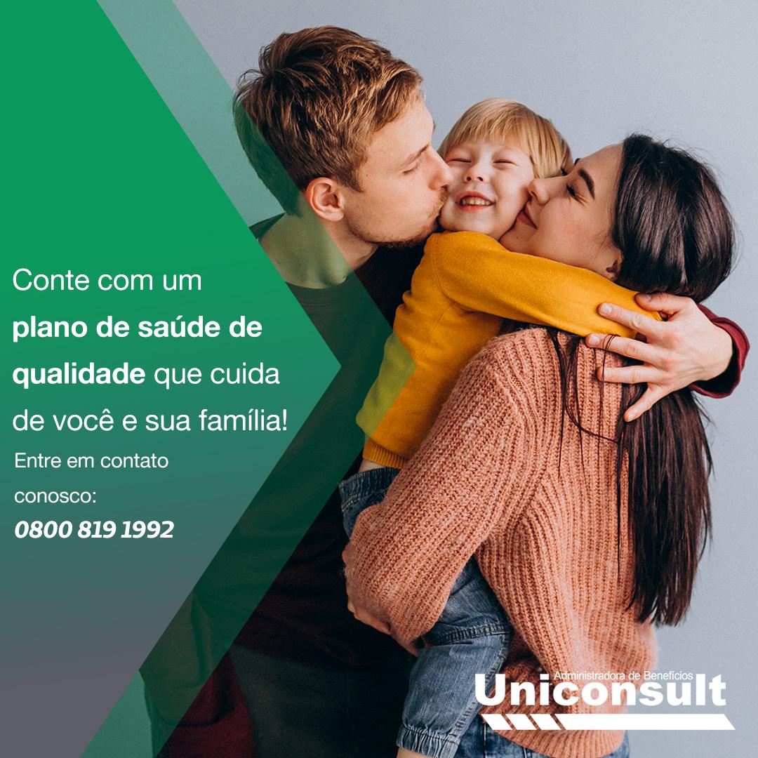 Conte com um plano de saúde de qualidade que cuida de você e sua família!