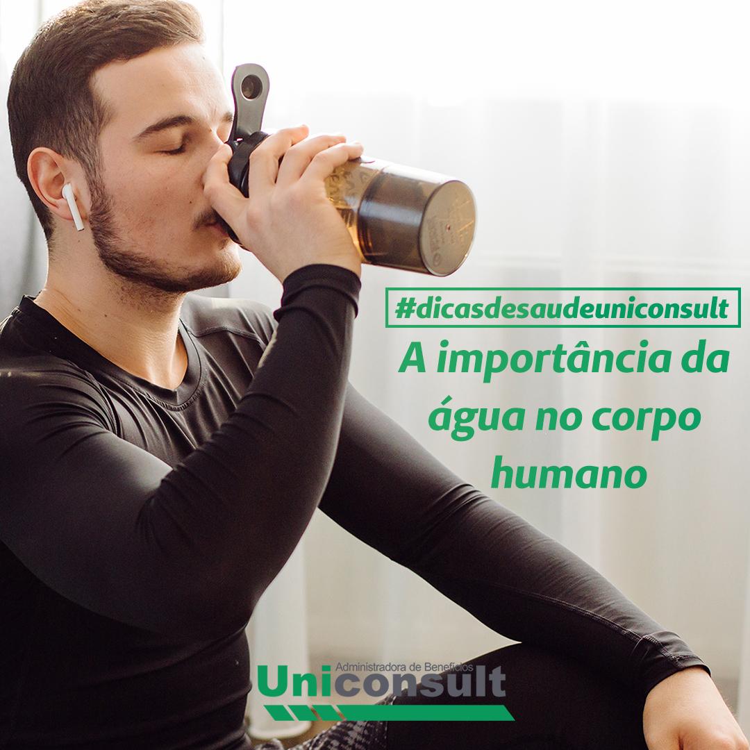 A importância da água no corpo humano