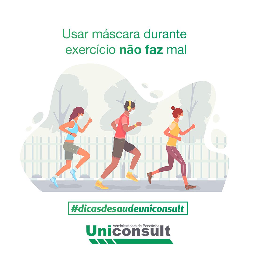 Usar máscara durante exercício físico não faz mal.